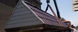ساخت و اجرای سقف شیروانی فلزی